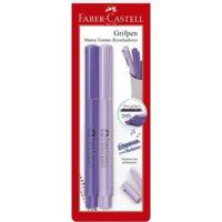 Caneta Marca Texto - Grifpen - 2 Cores - Roxa - Faber-Castell