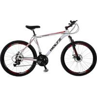 Bike Woltz Aro 26 Disco 21V Quadro Alumínio Câmbios Shimano - Unissex