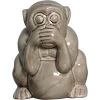 Estátua Decorativa Macaco Não Falo Fendi