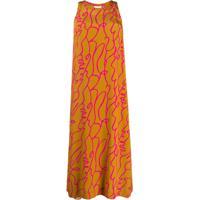 Alysi Graphic-Print Midi Dress - Neutro