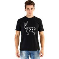 Camiseta Ouroboros Manga Curta Rockncow - Masculino-Preto