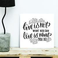 Placa Decorativa - What You Do