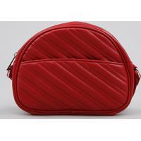e5aa315fd CEA; Bolsa Feminina Transversal Pequena Com Matelassê Vermelha - Único