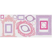 Adesivos De Parede Roommates Colorido Pink & Purple Frames Wall Decals.