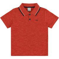 Camisa Polo Malha Mouline Vanizado Vermelho