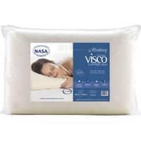 Travesseiro Visco Tradicional Alto Em Malha- Off White
