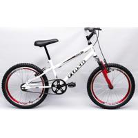 Bicicleta Aro 20 Flash Suspensão Bmx Branca Garra
