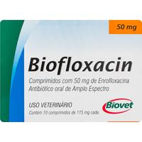 Biofloxacin 50Mg Uso Veterinário Com 10 Comprimidos