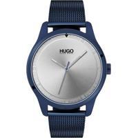 009c04e4faa Relógio Hugo Boss Masculino Aço Azul - 1530045