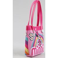 Bolsa Infantil Minnie + Elásticos De Cabelo Rosa - Único