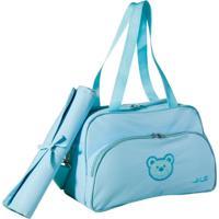 Bolsa Baby Com Trocador Ls Bb6435 Com 3 Divisões - Unissex-Azul