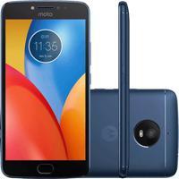 "Smartphone Motorola Moto E4 Plus Xt1773 - Azul - Dual Chip - 4G - 16Gb - Tela 5.5"" - Câmera 13Mp - Android 7.0"