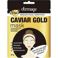 Máscara Facial Hidratante Dermage Caviar Gold Mask 10G - Unissex-Incolor