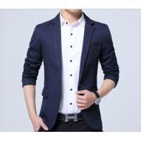 Blazer Masculino Sólido Design Slim - Azul Escuro