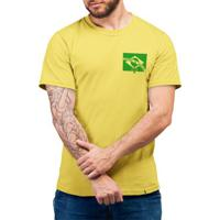 Futebol De Verdade - Camiseta Basicona Unissex-Amarela-G