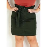 Saia Clochard Verde Militar Plus Size