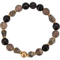 Nialaya Jewelry Pulseira Com Aplicações - Marrom