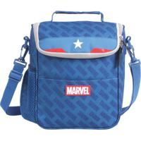 Lancheira ''Marvel®''- Azul Escuro & Vermelha- 29X22Dmw