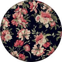 Tapete Love Decor Redondo Wevans Flores 94Cm