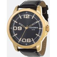 Kit Relógio Masculino Mondaine 99382Gpmvdh1K Analógico 5Atm + Carteira