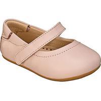 Sapato Boneca Em Couro Com Pesponto- Rosa Claro- Babkimey
