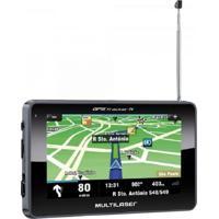 Navegador Gps Multilaser Com Tv/Radio Fm/Leitor De Usb/Sd Preto Gp034