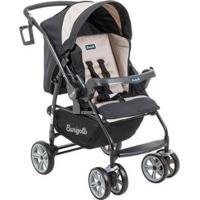 Carrinho De Bebê Passeio Burigotto At6 K Reclinável 4 Posições Para Crianças Até 15Kg - Unissex-Bege