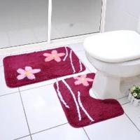 Jogo De Banheiro Classic Rosa