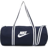 Bolsa Nike Sportswear Heritage Duff Azul-Marinho