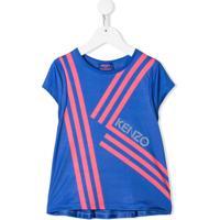 Kenzo Kids Blusa Com Estampa De Logo - Azul