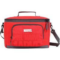 Lancheira ''Marvel®''- Vermelha & Preta- 29X22X10Cm