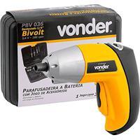 Parafusadeira 1/4 Pol. A Bateria 3,6V Bivolt Com Acessórios-Vonder-Pbv036