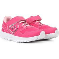 Tênis Infantil Kurz Coração Velcro Feminina - Feminino-Pink