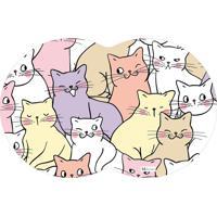 Tapete Pet Gatos Coloridos 55X35Cm