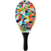Raquete De Frescobol Evo Fibra De Vidro Mosaique - Masculino