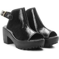 825f14016 ... Ankle Boot Moleca Tratorada Salto Bloco - Feminino-Preto