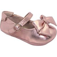 Sapato Boneca Com Laço & Fivela - Cobre- Luluzinhaluluzinha