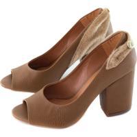 Sapato Alta Villa Shoes Marrom