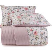 Jogo De Colcha Queen Altenburg Malha In Cotton 100% Algodáo Vivacitá – Rosa Rosa - Tricae