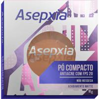 Pó Compacto Asepxia Antiacne Cor Bege Escuro Fps20 10G