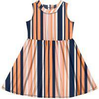 Vestido Tricoline Infantil Rovitex Kids Azul