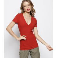 Blusa Canelada- Vermelha- Forumforum