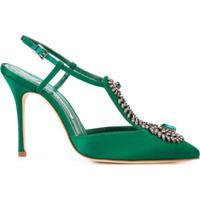 Manolo Blahnik Sapato Jamala 105 - Verde