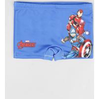 Sunga Boxer Infantil Os Vingadores Azul Royal