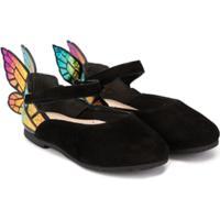Sophia Webster Mini Butterfly Ballerina Shoes - Preto