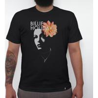 Billie Holiday - Camiseta Clássica Masculina