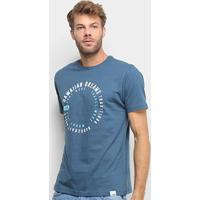 Camiseta Hd Swirl Masculina - Masculino-Azul