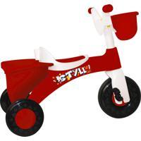 Triciclo Basculante Branco E Vermelho Styll