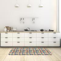 Tapete De Cozinha Mdecore Abstrato Colorido 40X120Cm