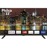 "Smart Tv Philco Led 32"" Ptv32G60Snbl Netflix Bivolt"